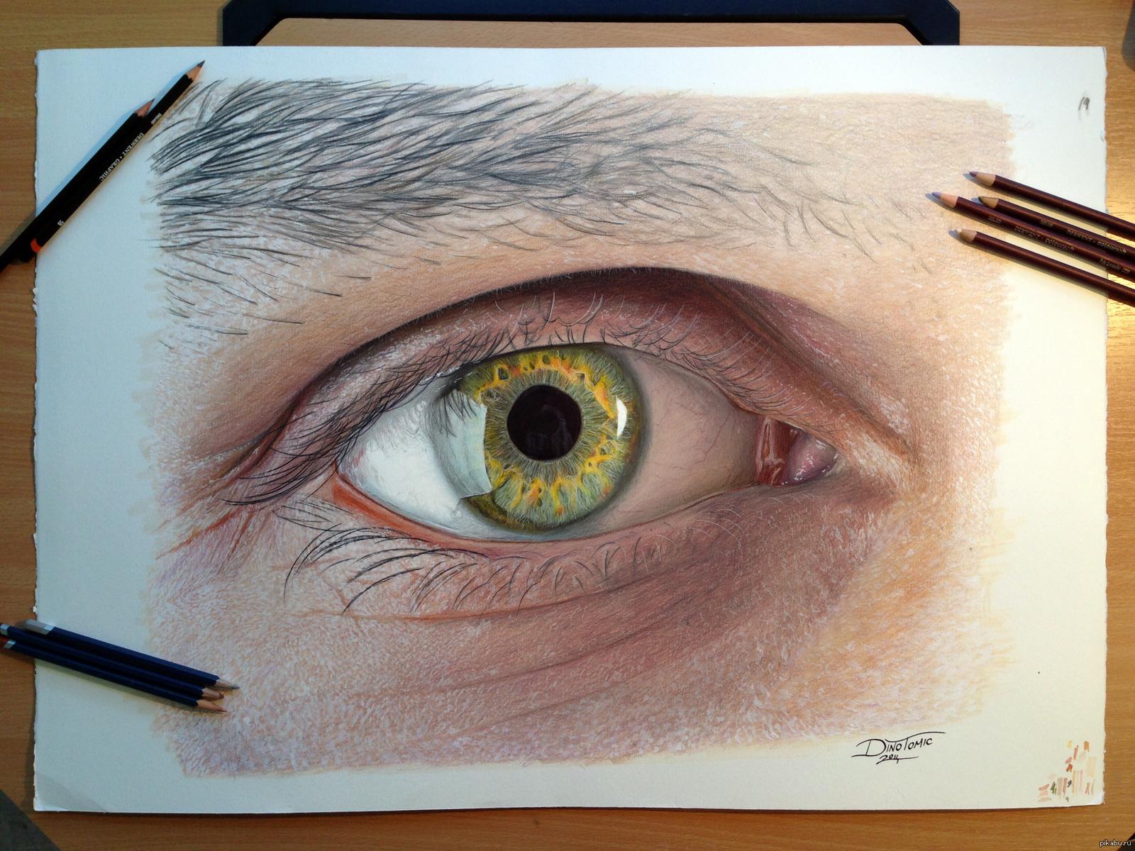 Как рисовать глаза фотореалистично