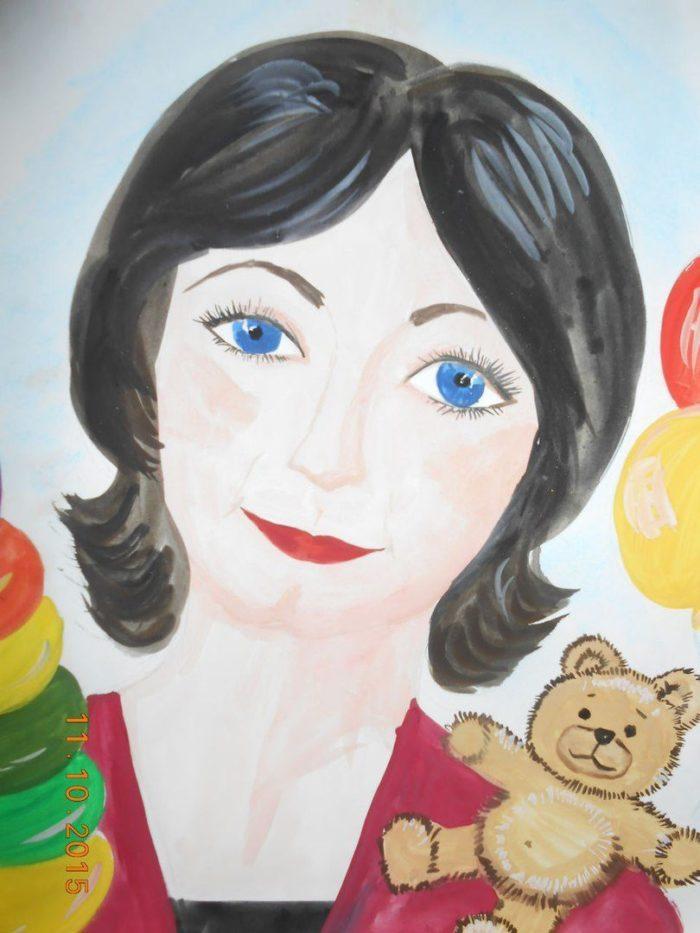Картинки для детей портреты мам