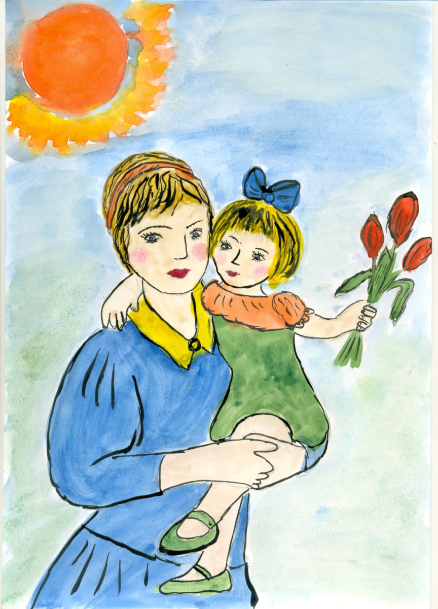 Рисунок для любимой мамочки, лет подруге прикольные