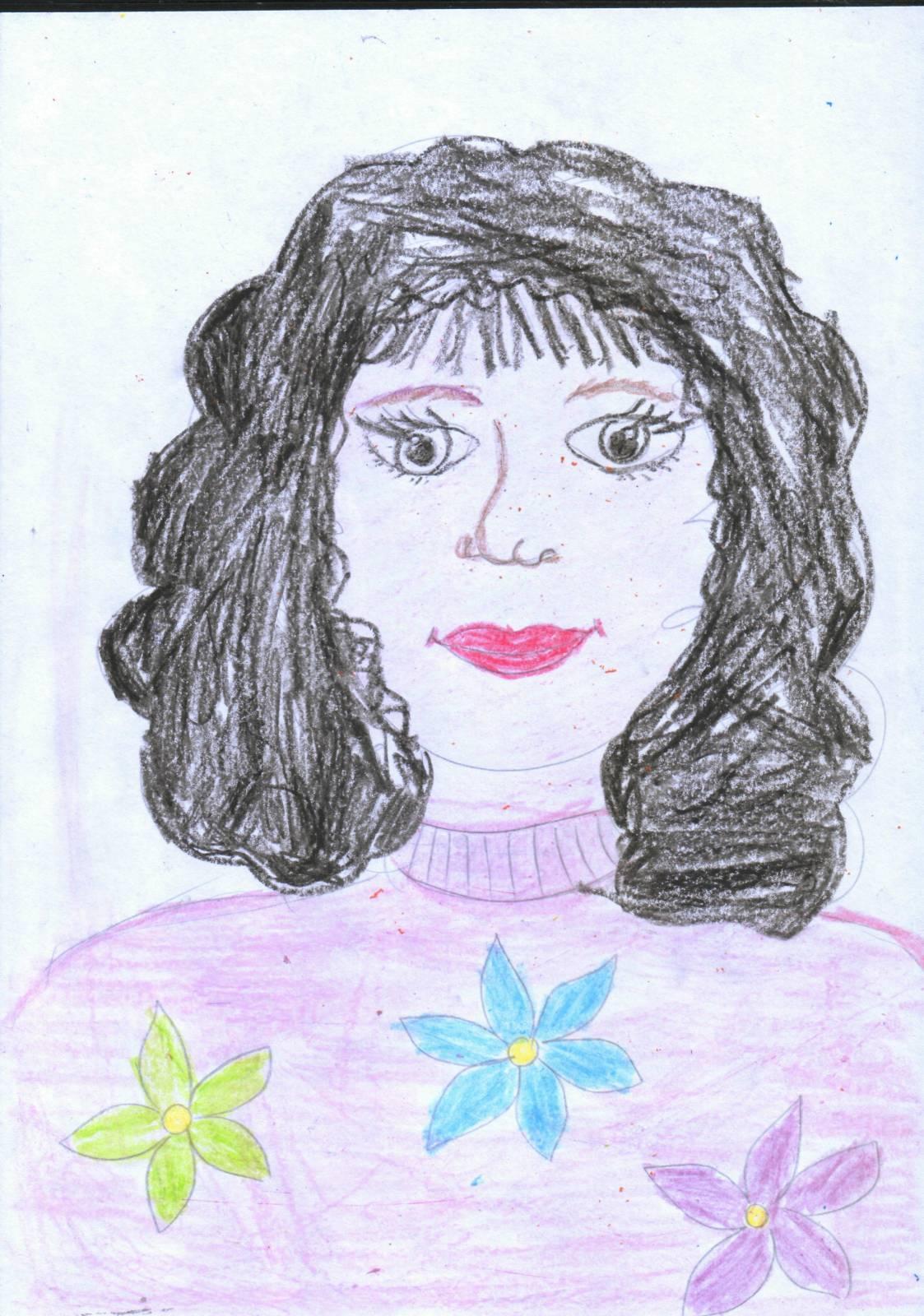Портрет мамы в картинках