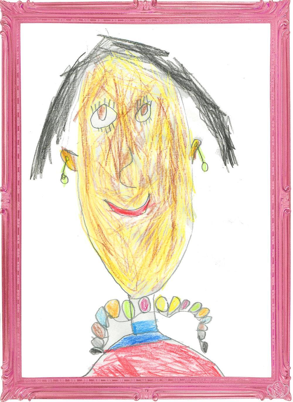 Детские рисунки смешно, открытка днем