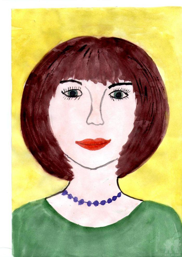Картинки как рисовать портрет мамы