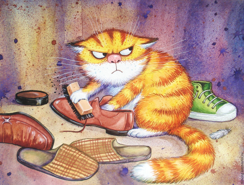 смешные котики рисунки картинки сажают клумбах, группах