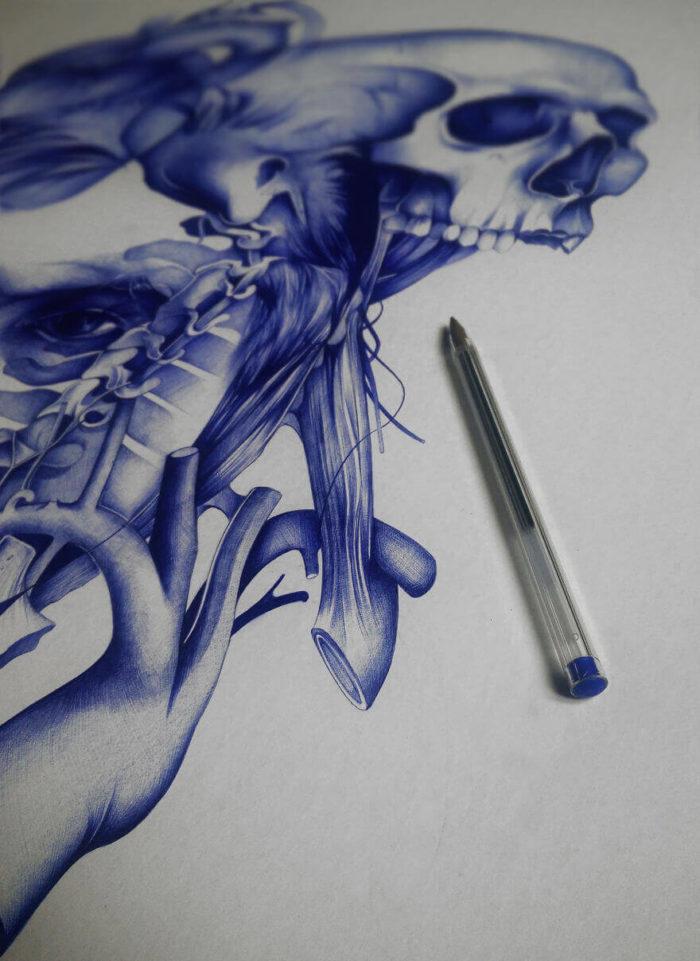 имеется красивые рисунки шариковой ручкой для начинающих баллон салоне
