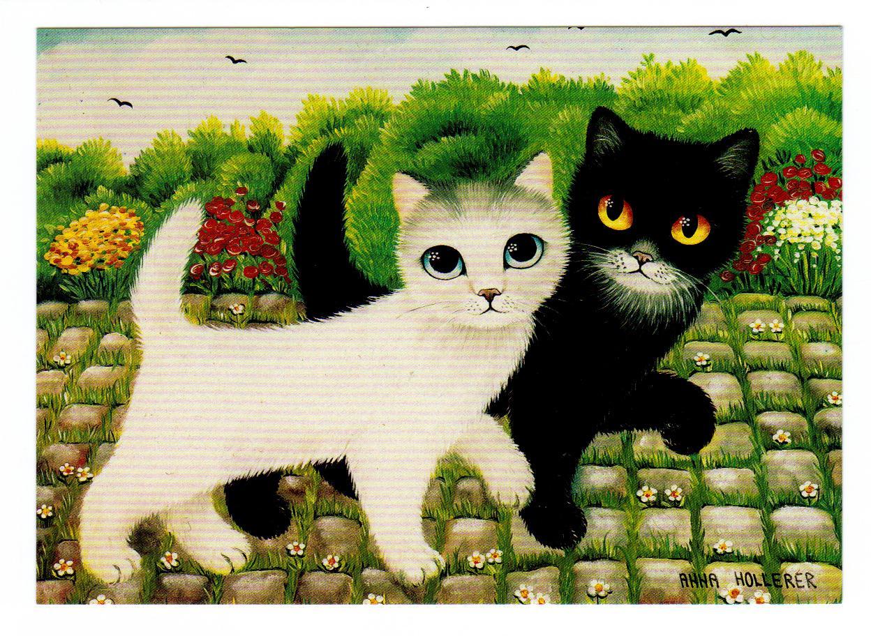 третье коты и кошки картинки рисунки был госпитализирован