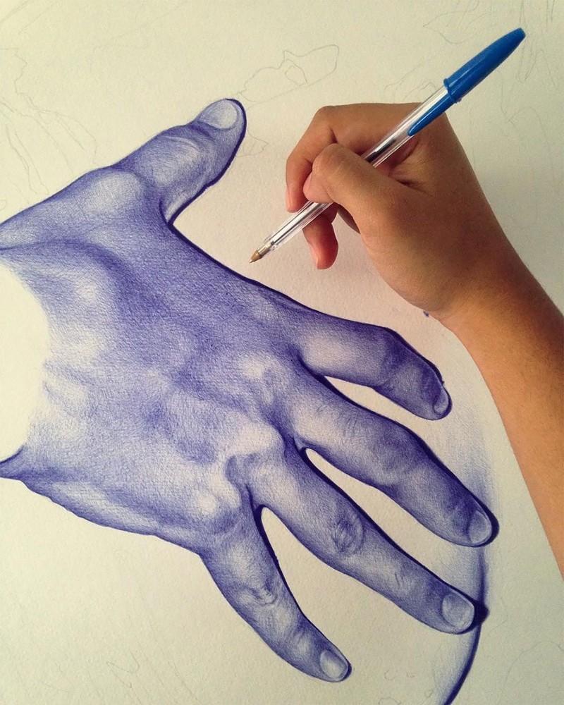 Картинки рисуем ручкой, открытку