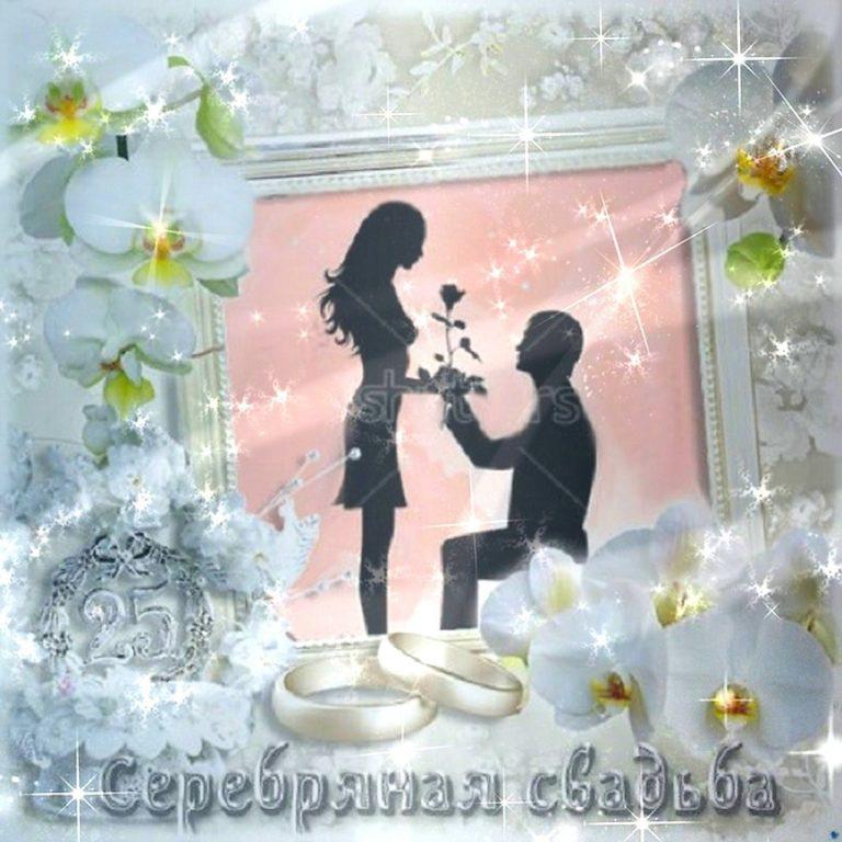 Серебряная свадьба картинка анимация, омега