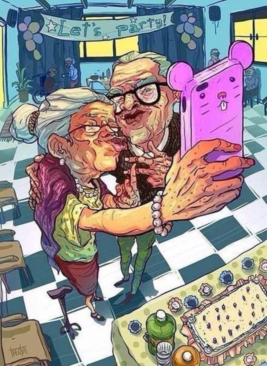 Прикольные бабушка и дедушка картинки