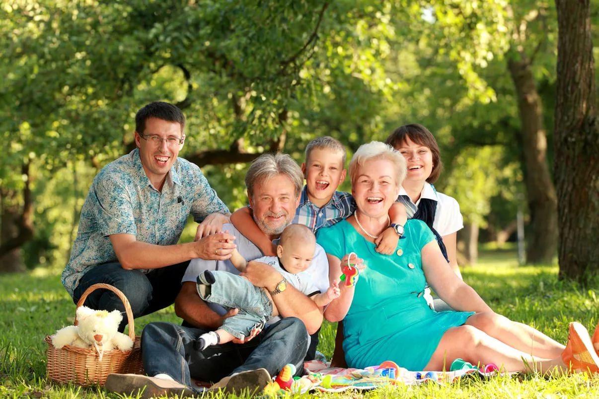 Семья картинки дедушка бабушка