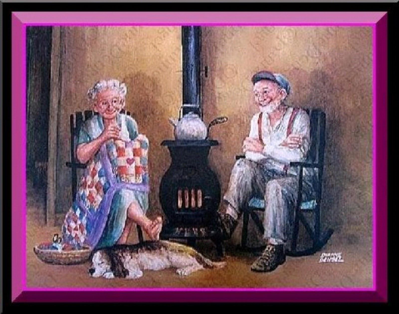 Прикольные рисунки старика, пожеланиями доброго утра