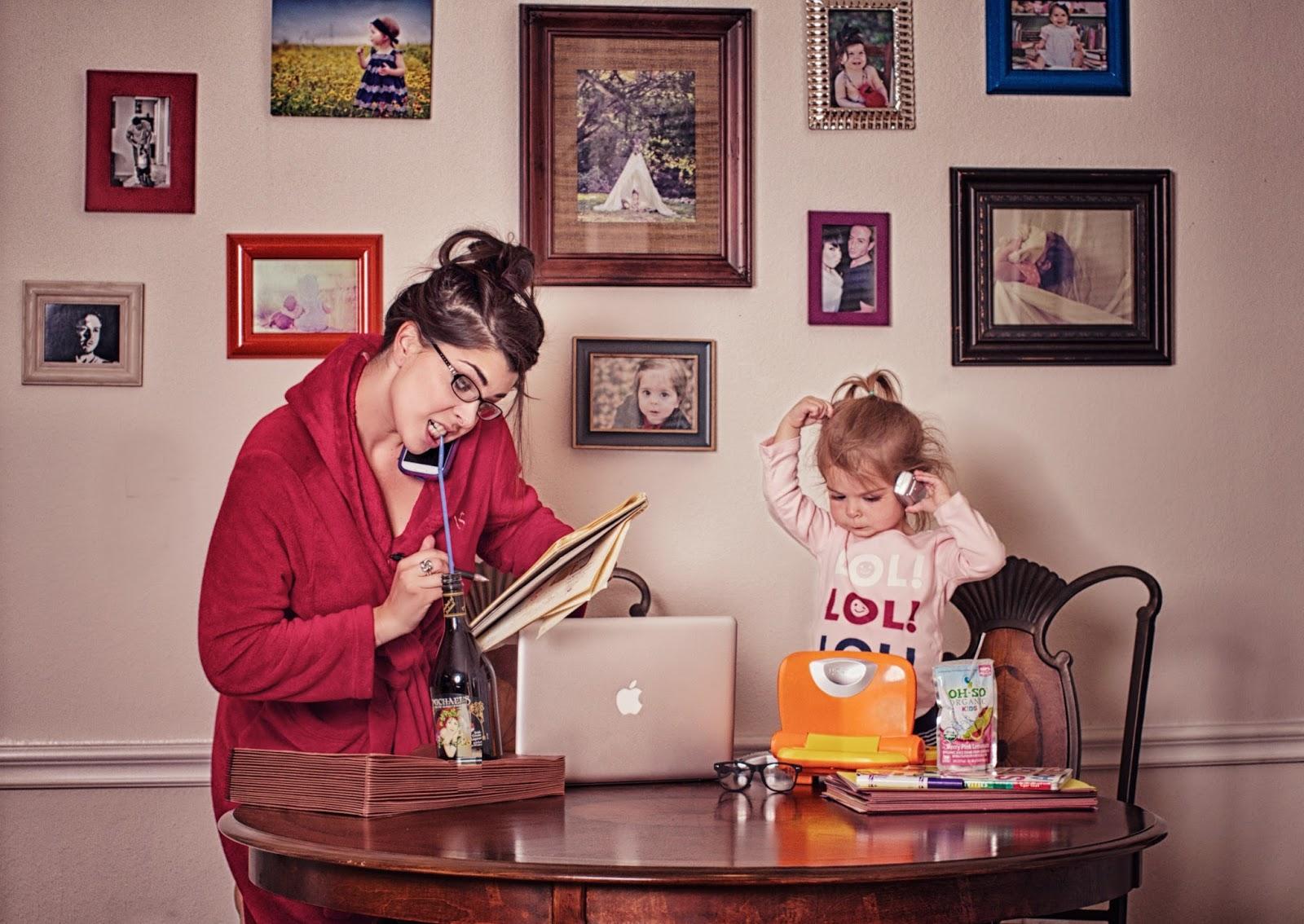 Нарисованные, прикольные картинки мама и ребенок