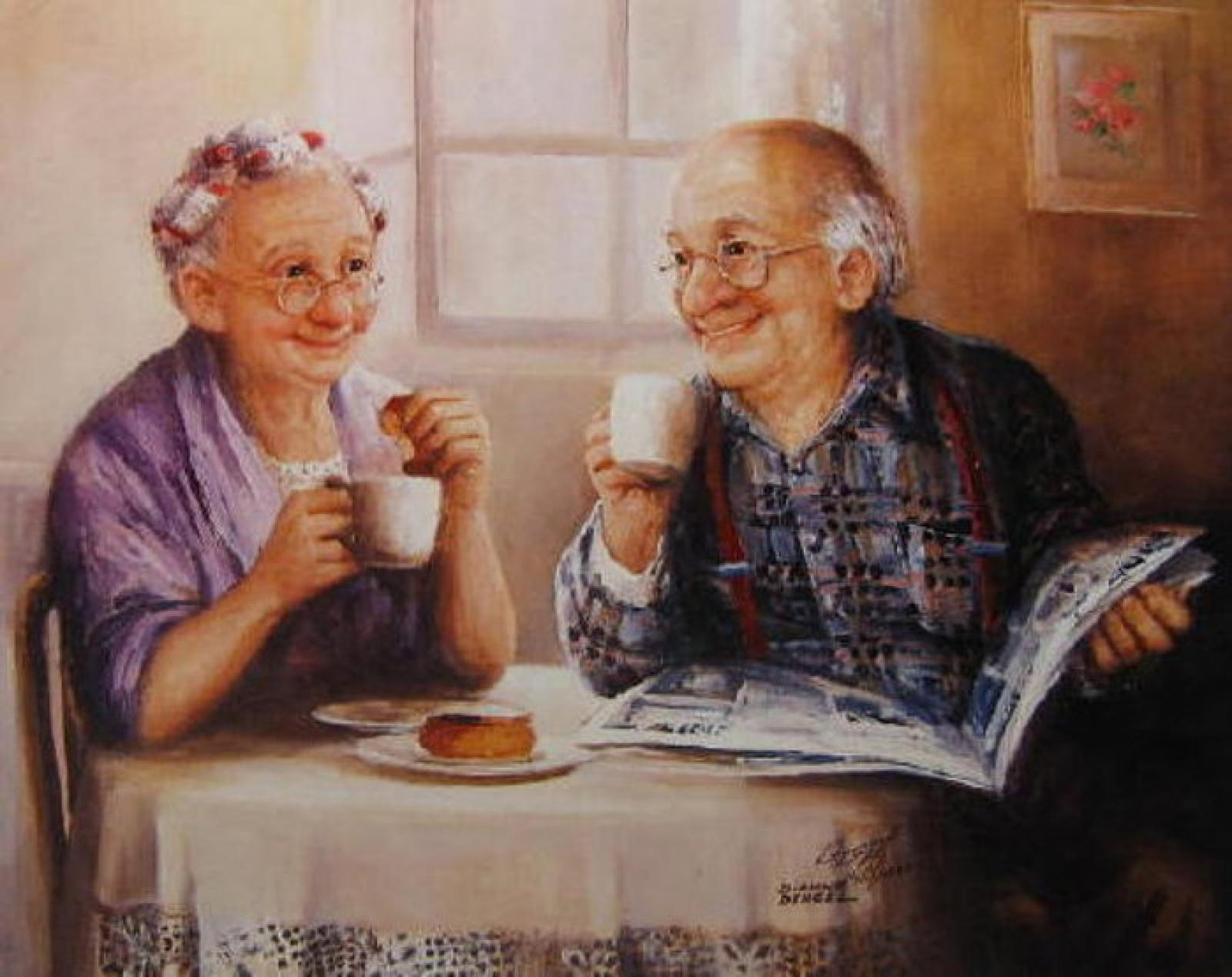 Картинки бабушки с дедушками