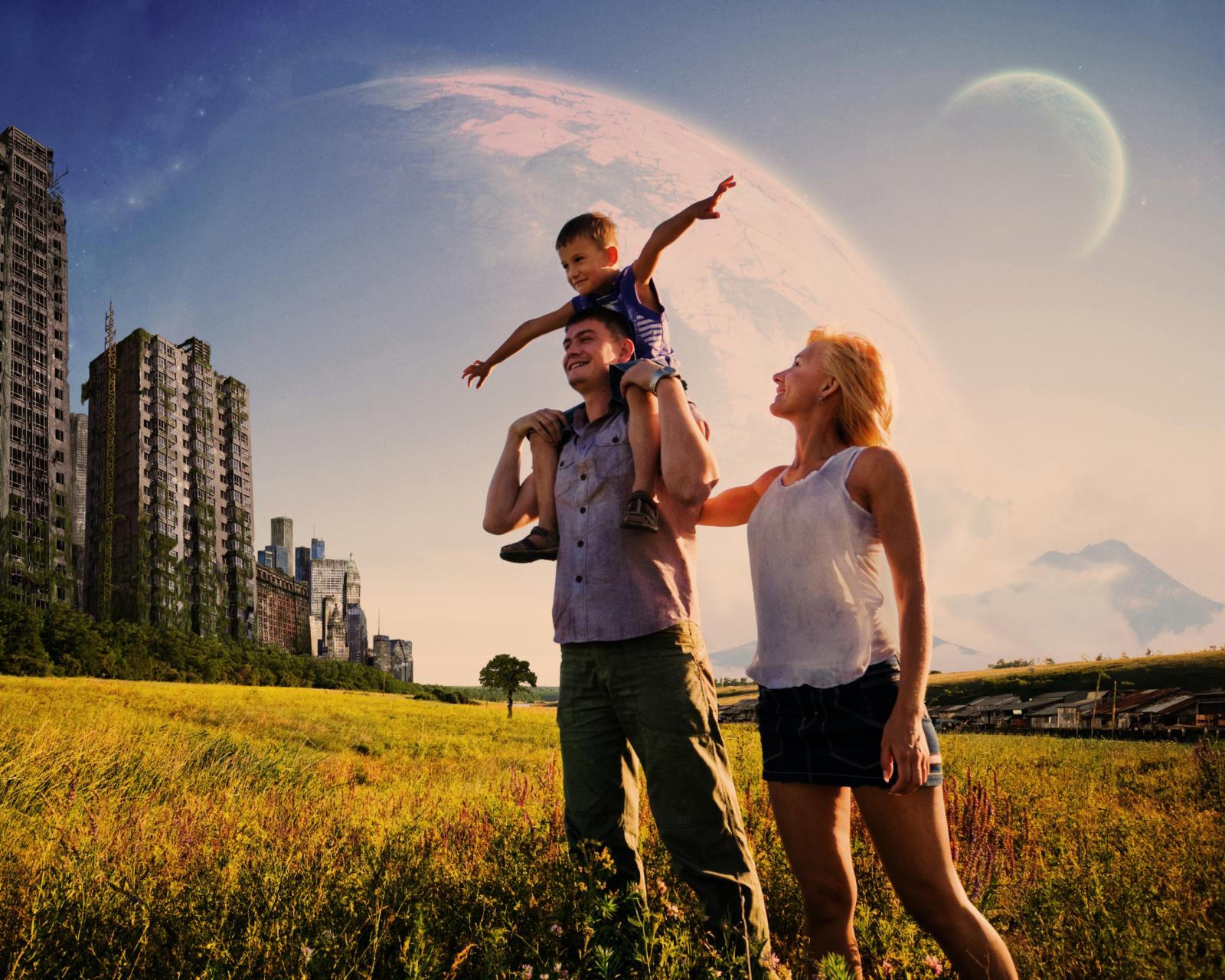 осталось картинки семья под небом образуются, как