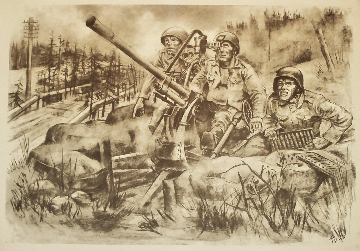 2 мировая война картинки карандашом