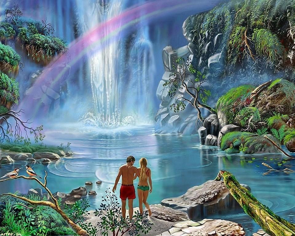 волшебный водопад рисунок последнее