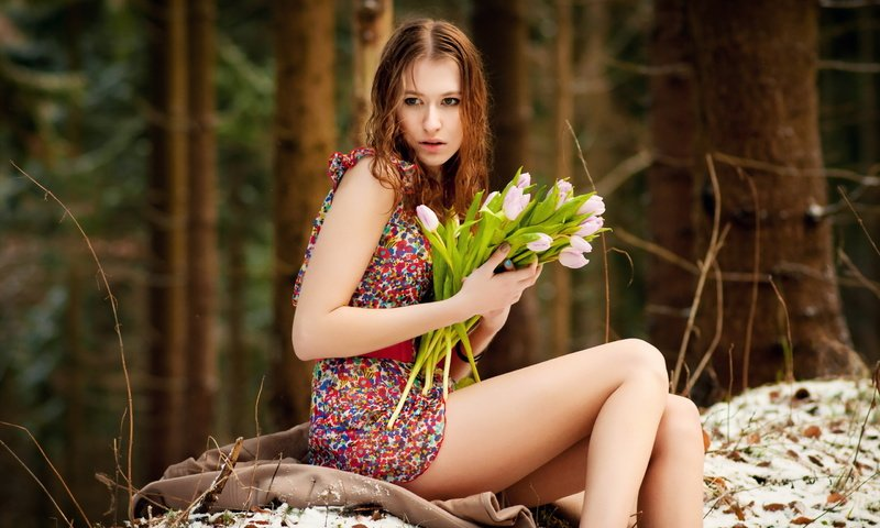 Фото на природе девушек на, пышку в чулках трахнули