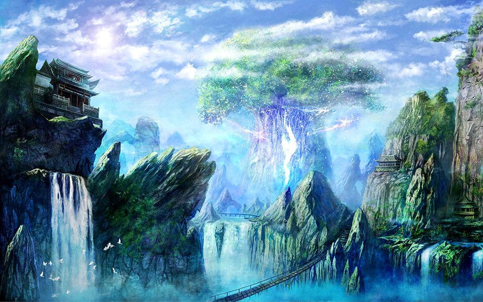волшебный водопад рисунок его