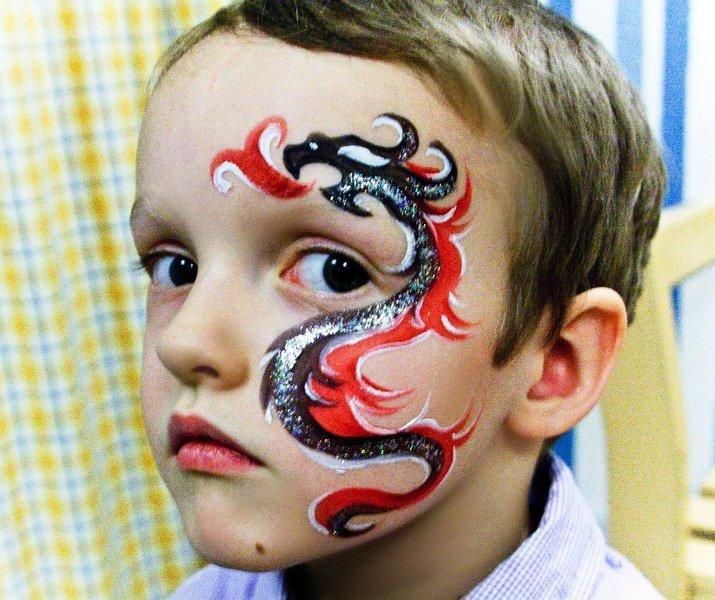 Крутые рисунки на лице для мальчиков фото