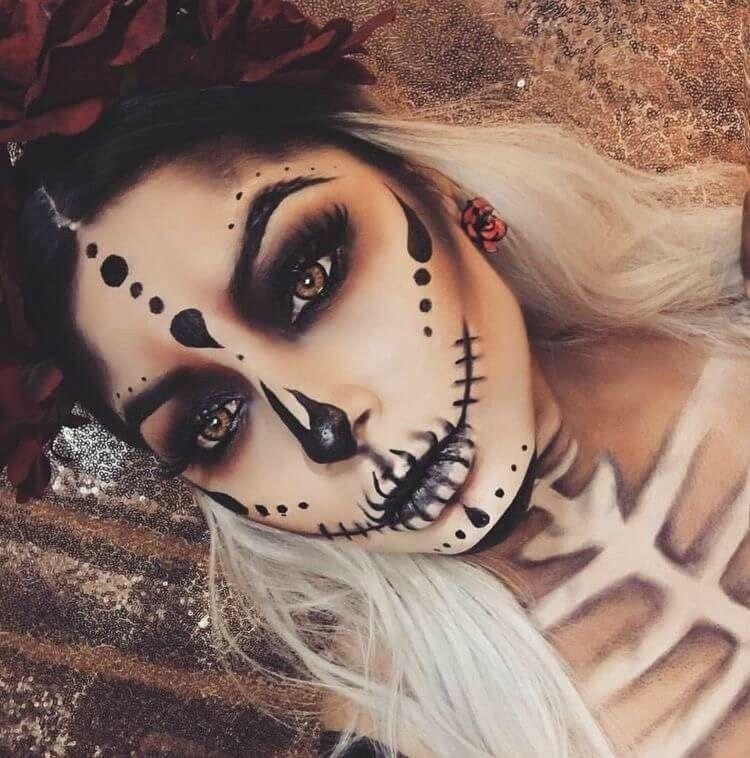 уже фотки макияжа на хэллоуин особых примет шрам