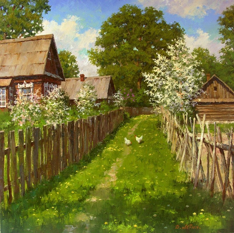 Картинки деревенские пейзажи, днем рождения