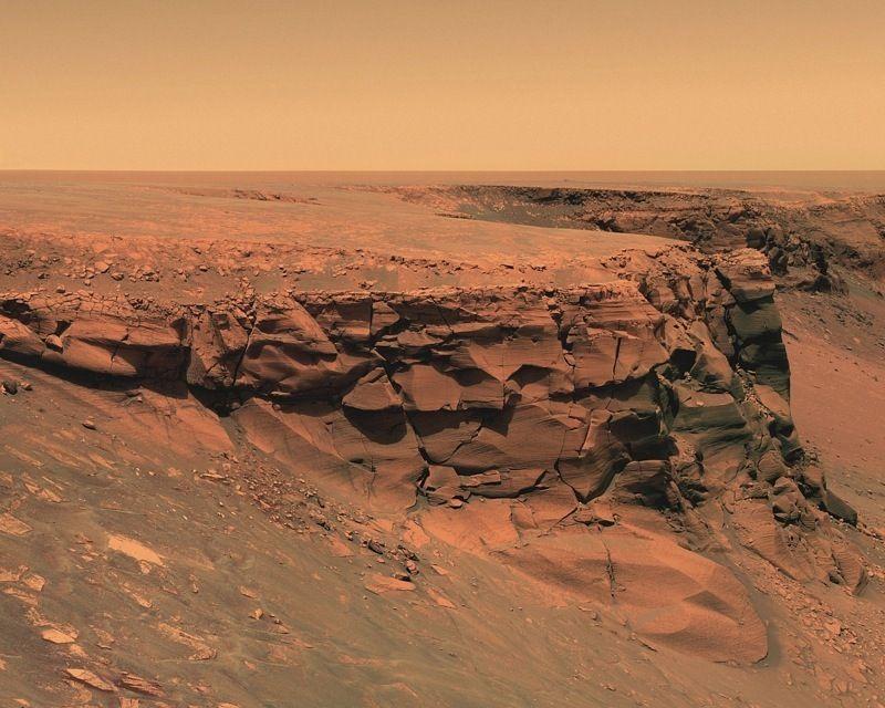 поверхность Марса - пустыня