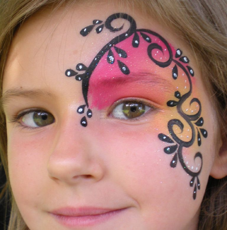 картинки рисунки на лице легко и просто оттенок красного