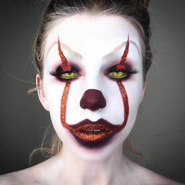Как можно себя разукрасить на хэллоуин фото