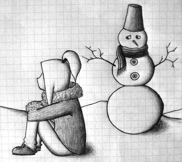Прикольные рисунки скучно, открытка спасибо