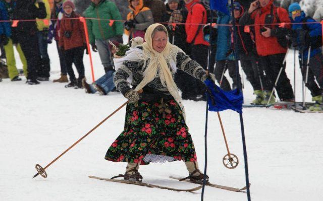Тему люди, лыжницы картинки смешные