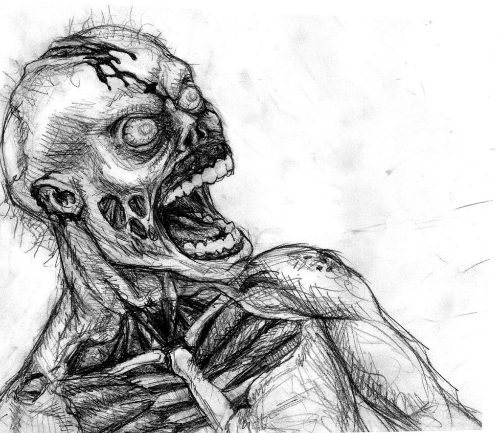 Очень страшные картинки карандашом