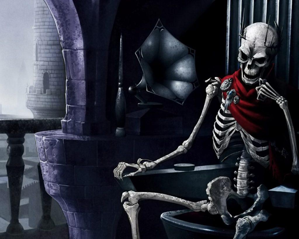 Картинки крутые скелеты на троне, цветы