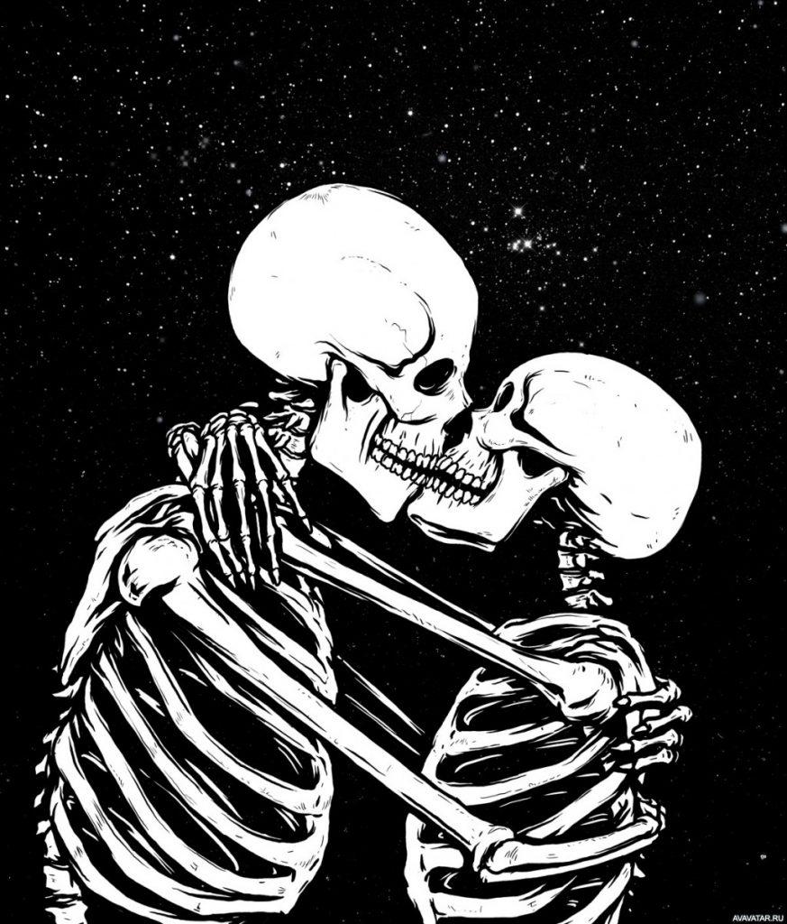 Крутые картинки со скелетами, девушек