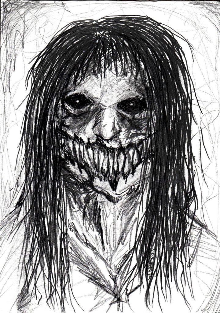 Страшные картинки рисуемые карандашом