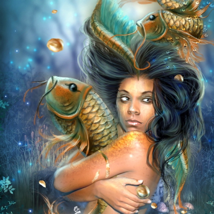 Картинки знак зодиака рыбы фэнтези
