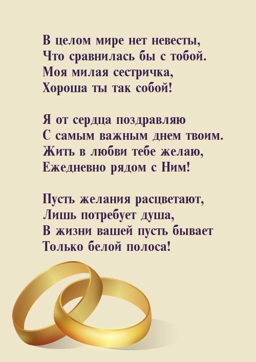 Поздравления для молодых от брата невесты
