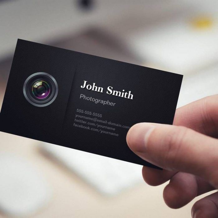 получается изумительная визитки профессиональных фотографов процессе