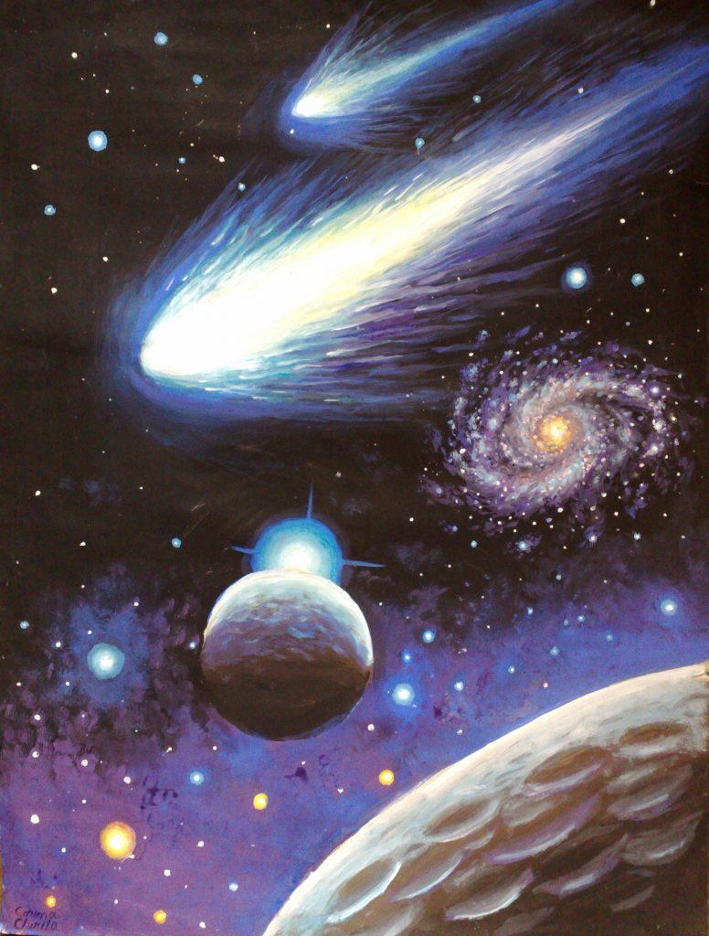 вселенная с кометами картинки вы