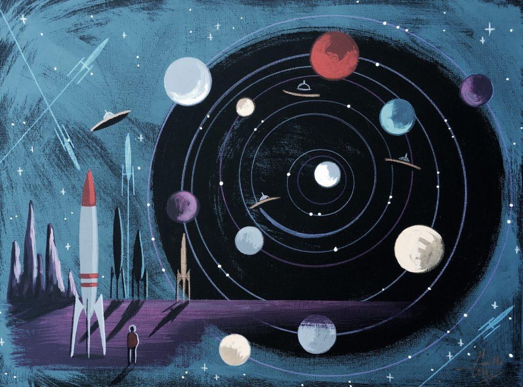 Рисунок ассоциации с космосом