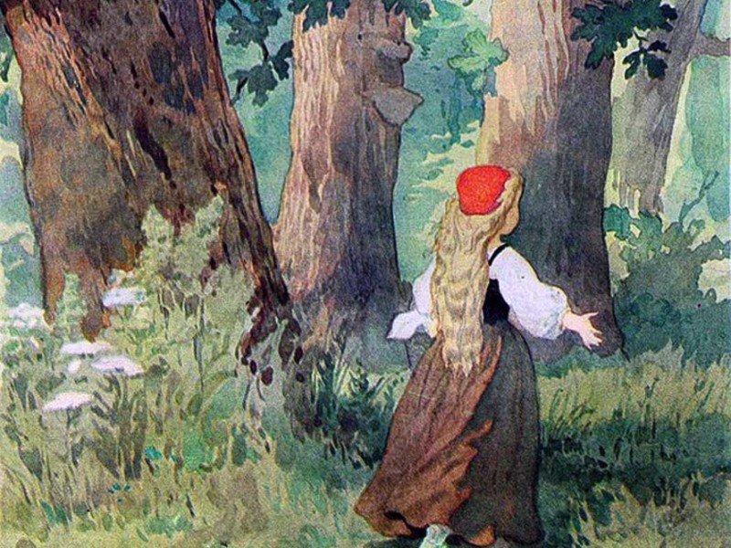 Красная шапочка в лесу рисунок живём организовываю