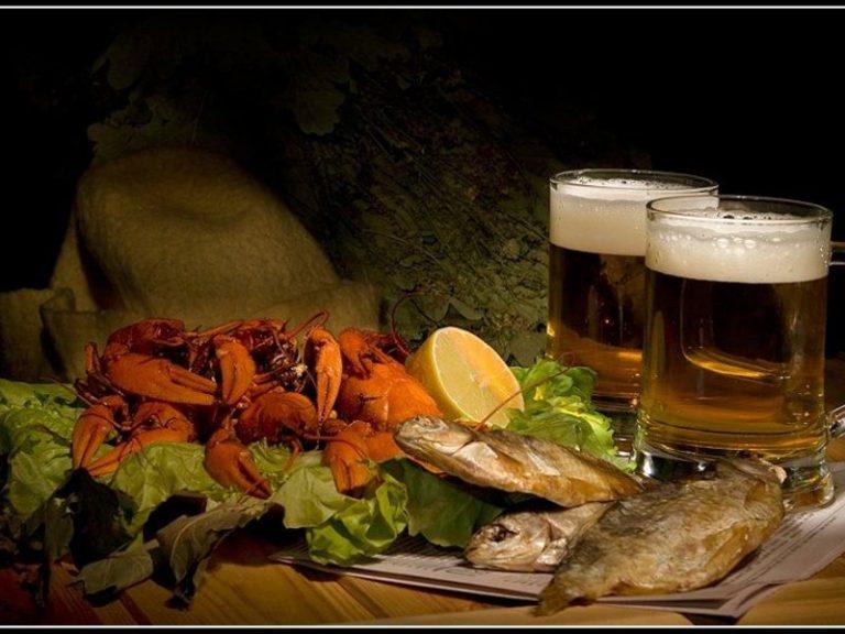 картинки пиво с рыбой и раками нравится