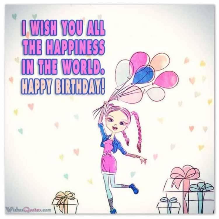 Поздравления с днем на английском рождения девушке