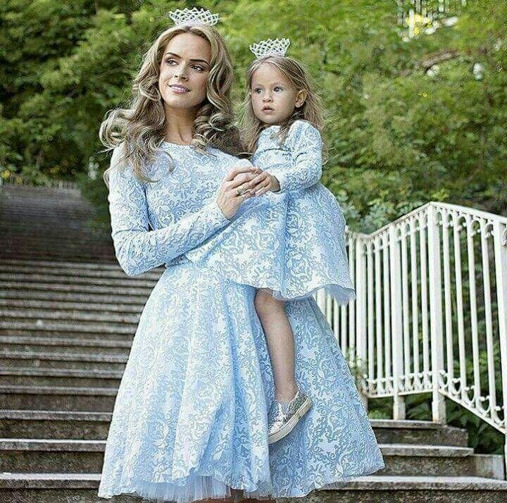 Платья мама и дочка одинаковая одежда фото вечернее