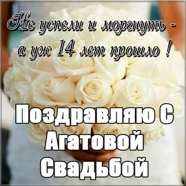 Открытки с днем свадьбы 14 лет агатовая свадьба