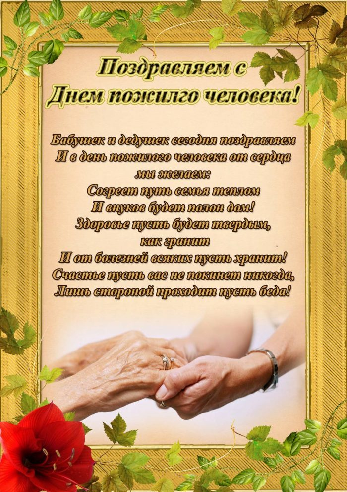 Любимому, с днем пожилых людей открытка