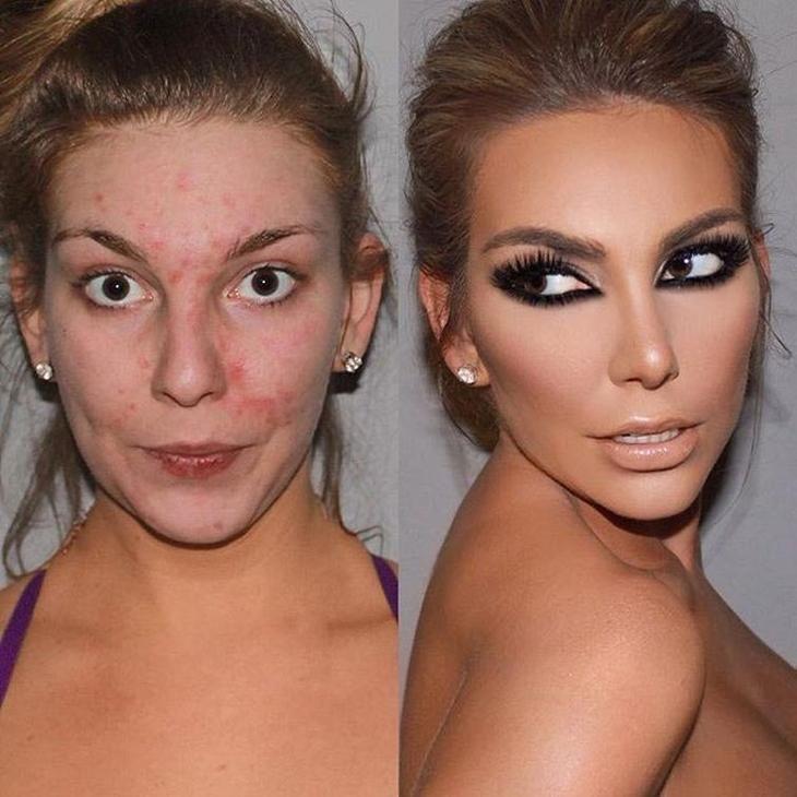 себе сила макияжа фото до и после фото обнимаю