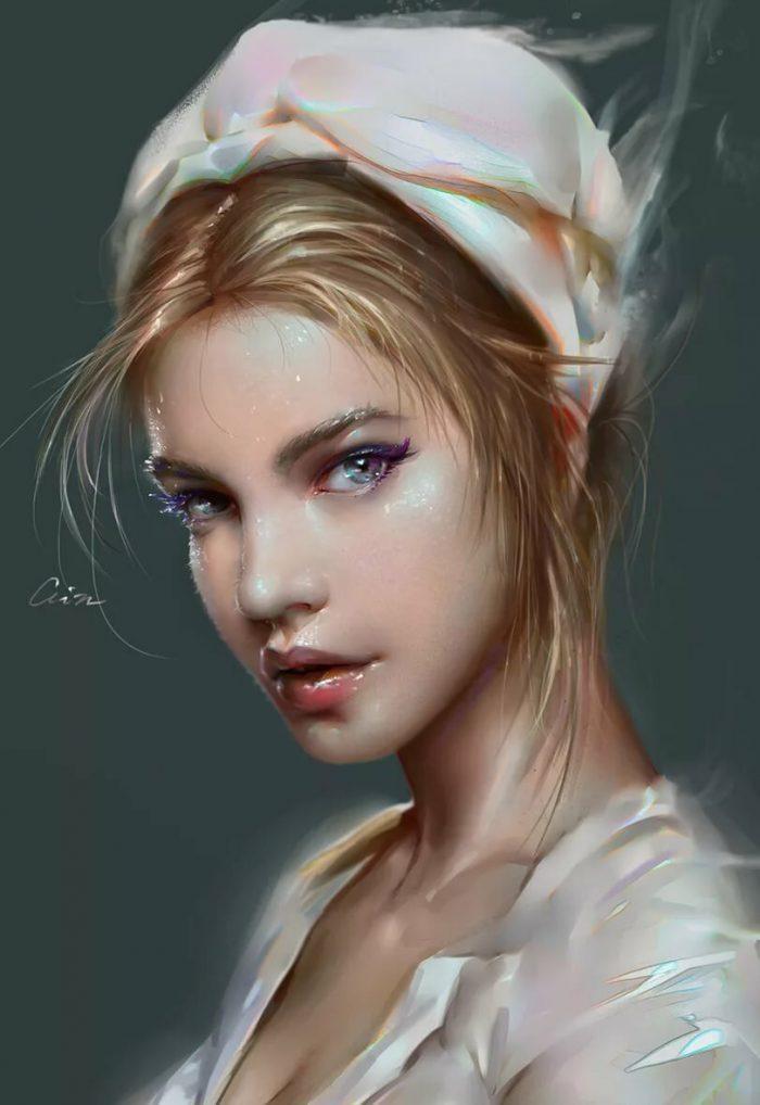 Арт девушки портрет картинки