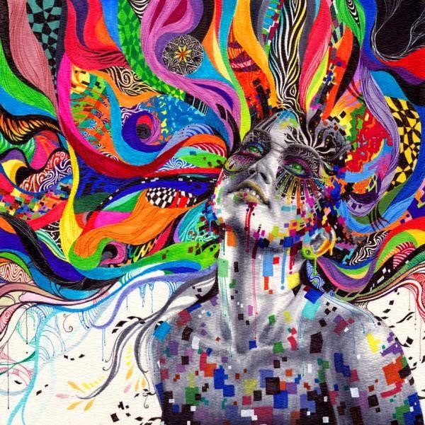 что может быть от картинок психоделики глубокого фиолетового
