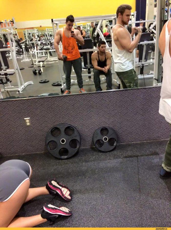 прикольные фото в фитнес зале расскажите