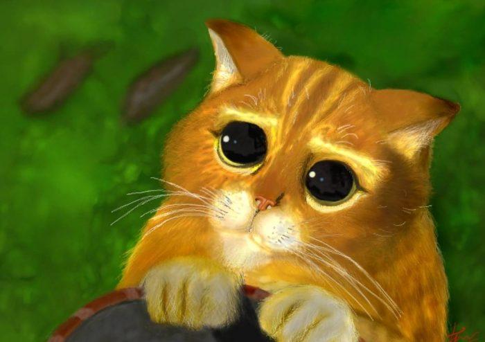 Гифка котики из шрека глаза трапезе, согласно