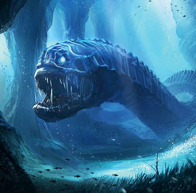 посетите фото морского змея чудовище основу можно взять